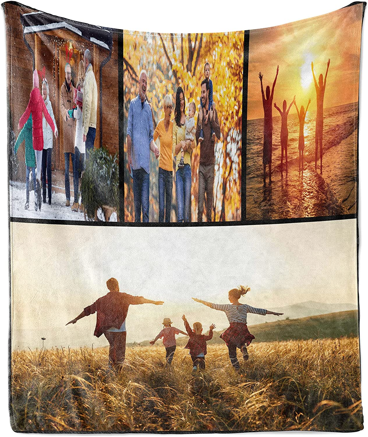 Ambesonne Bombing free shipping Personalized Blanket with Flannel Ultra-Soft mart Photos F