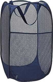 WeeDee Panier à linge pliable - 60 x 34 x 34 cm - Bleu foncé