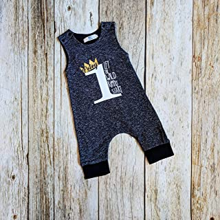 Wild Rumpus Romper Personalized 1st Birthday Outfit for Boys. Wild One.