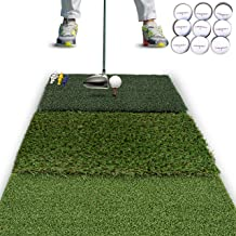 Rukket Tri-Turf Golf Hitting Mat Attack | Portable Driving, Chipping, Training Aids for..