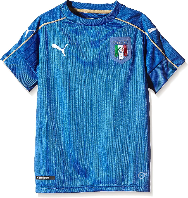 Puma - Camiseta de Fútbol de la Primera Equipación de Italia, Réplica para Niño: Amazon.es: Ropa y accesorios