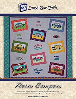 Retro Camper Embroidery Pattern Quilt Pattern Applique Designs Lunch Box Quilts