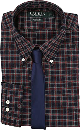 LAUREN Ralph Lauren Poplin Checks Classic Dress Shirt