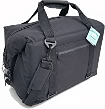 Polar Bear Coolers - Nylon Line - Quality Like No Other from The Brand You Can Trust - See Touch & Feel The Polar Bear Difference - Patent Pending - 24 Pack Black