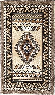 Rugs 4 Less Collection Southwest Native American Indian Door Mat Area Rug Design R4L 143 Beige / Berber (2'x3'4'')