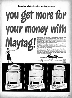 1947 Maytag Washing Machines With Ringers Original 13.5 * 10.5 Magazine Ad