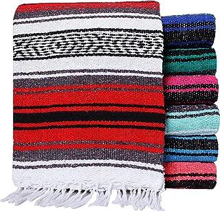 El Paso Designs Mexican Yoga Blanket Colorful 51in x 74in Studio Mexican Falsa Blanket..