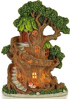 VP Home Enchanted Treehouse Solar Powered LED Outdoor Decor Garden Light