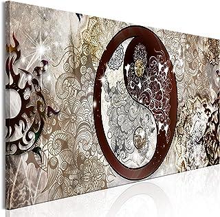murando Impression sur Toile intissee Astratto 120x40 cm 1 Piece Tableau Tableaux Decoration Murale Photo Image Artistique...