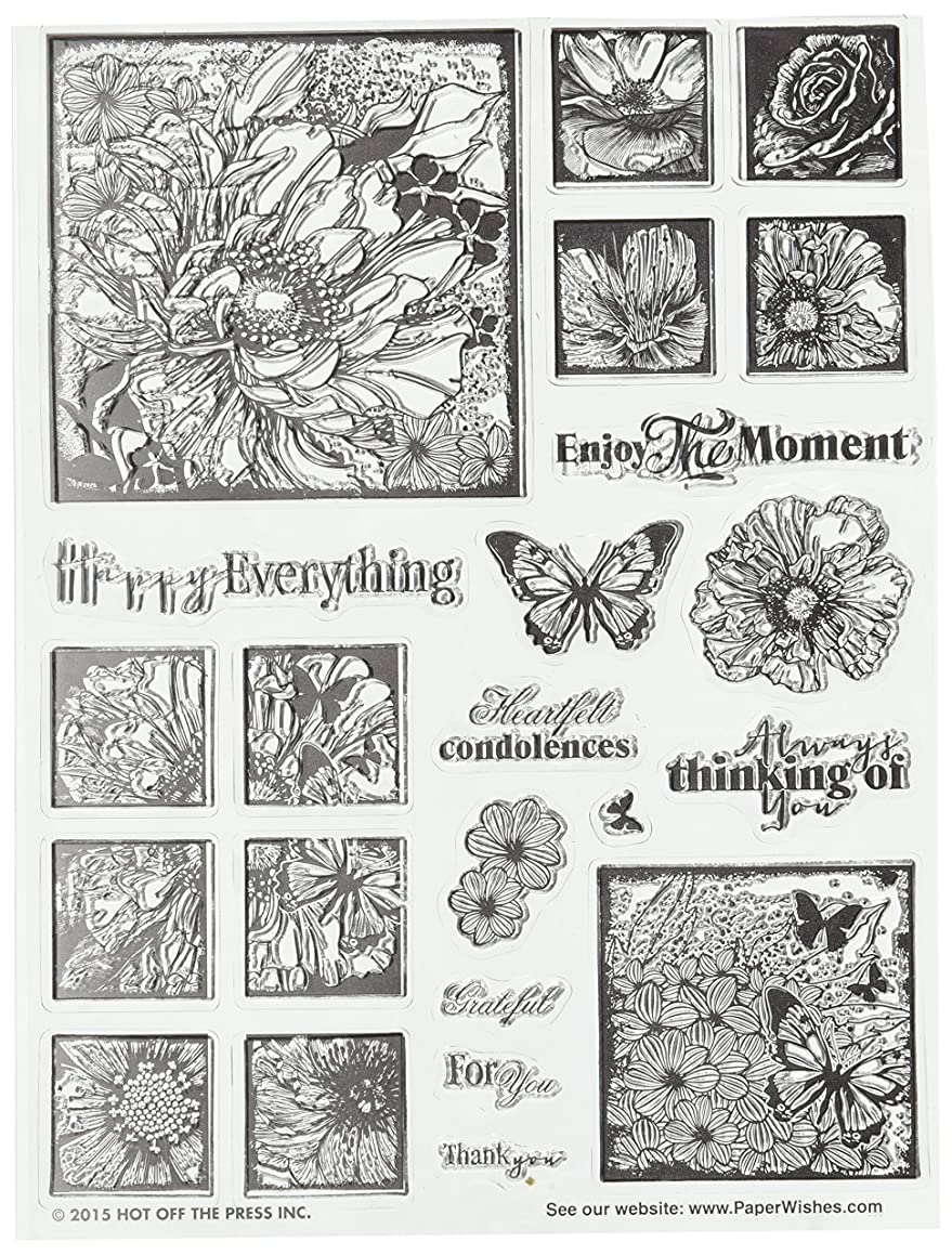 Hot Off The Press Photo Flowers Acrylic Stamp Sheet, 6