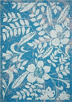 """Nourison Home & Garden Indoor Outdoor Blue Area Rug, 7'9"""" x 10'10"""""""