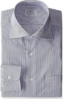 (フェアファクス) FAIRFAX(フェアファクス) 形態安定加工チェックワイドカラーシャツ 7151 18 ネイビー