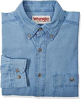 Wrangler Mens Rugged Wear Basic One-Pocket Denim Shirt