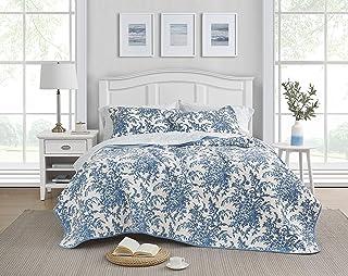 Laura Ashley Bedford Cotton Reversible Quilt Set, Full/Queen