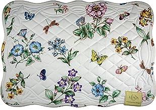 Lenox Butterfly Meadow Placemats, 13x19, Blue Flower