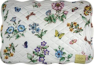 Lenox Butterfly Meadow Quilt, Pack of 4 Placemats, Ivory