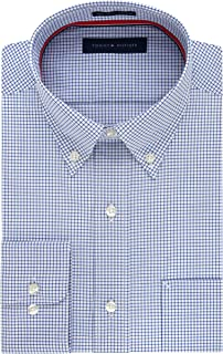 Men's Dress Shirt Regular Fit Non Iron Gingham