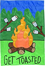 Carson Home Accents Flagtrends Double Applique Garden Flag, Get Toasted Campfire
