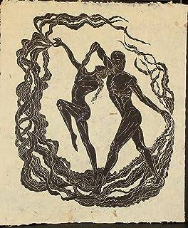 Large Original Woodcut Print Dancing Figures Classic Flamenco Baile del Sol