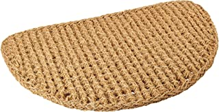 Kempf Half Round Dragon Coir Entrance Mat, Twisted Fiber Doormat, All Natural, Effective at Scraping Dirt and Debris from ...