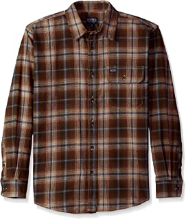 Smith's Workwear Men's 6 oz 2 Pocket Flannel Plaid Shirt