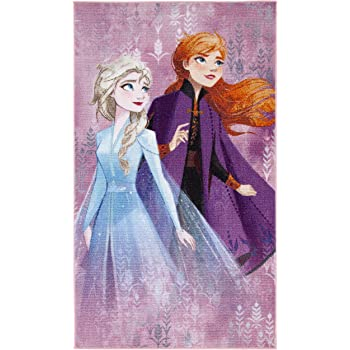 Kinder Teppich Spielteppich Eiskönigin Frozen blau 200x170 cm Elsa Olaf Anna