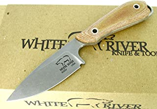 White River Knife & Tool Caper Hunting Knife Natural Micarta Handle WRCPR-NA