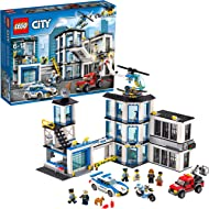 LEGO City Police Station 60141 Building Kit with Cop Car, Jail Cell, and Helicopter, Top Toy and...