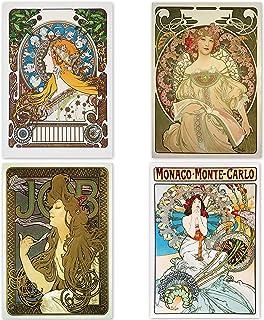 "Poster Alphonse Mucha ""Zodiac & Daydream & Monaco Monte Carlo &Job""16.53inch×11.69inch(A3)<fine Art Paper Print>【Made in J..."