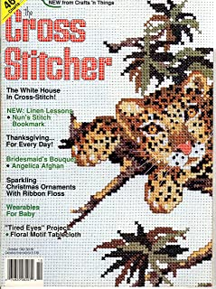 Cross Stitcher Magazine Oct 1991 - White House - Bookmark - Ornaments - Afghan - Tablecloth
