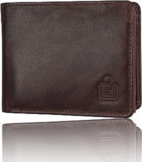 Le Craf Men's Brown Genuine Leather RFID Blocking Wallet