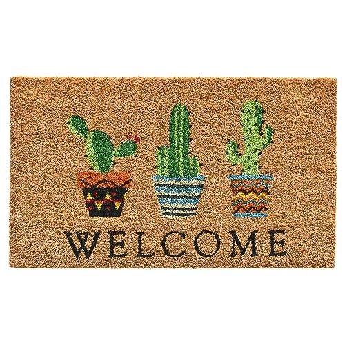 Calloway Mills Cactus Welcome Doormat, 17  x 29 , Multicolor