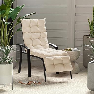 Amazon Basics Tufted Outdoor Lounger Patio Cushion - Khaki