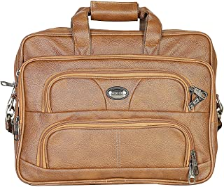 Good Win Leatherette Laptop/Office Bag- 09990-Tan