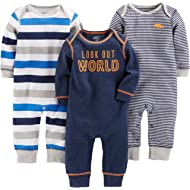 Baby Boys' 3-Pack Jumpsuits