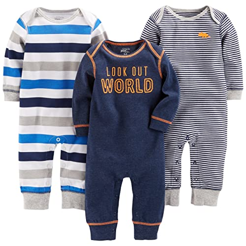 0d922ca86f08 Simple Joys by Carter s Baby Boys  3-Pack Jumpsuits