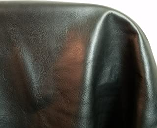 NAT Leathers Black Butter Soft Aniline Light Weight Smooth Fullgrain Nappa 18-22 Square Feet 2.0-2.5 oz Nappa Soft Upholstery Handbag Cowhide Genuine Cow Leather Hide Skin (About 30