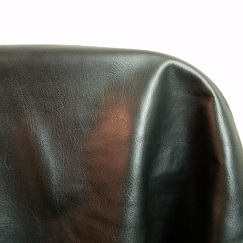 NAT Leathers Brown Croco Embossed 8 X 10 Cutting Upholstery Craft Cow Cowhide Genuine Leather Hide Skin 8 inch x 10 Cutting