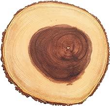 """Kitchencraft Artesà Árbol tronco tabla de quesos/bandeja con borde de corteza de madera natural, 25cm (10""""), diseño redondo, madera, marrón, 1x 1x 1cm)"""