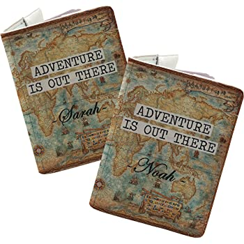 Darling Lets be adventurers Bisu Bisu personalized Passport Cover and Luggage Tag set