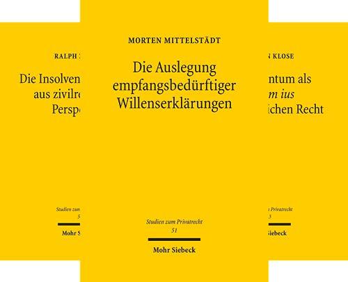 Studien zum Privatrecht (Reihe in 33 Bänden)