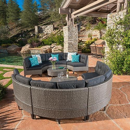 Surprising Round Patio Furniture Amazon Com Download Free Architecture Designs Embacsunscenecom