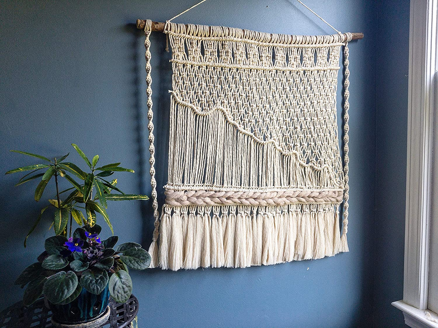 WILD COTTON Fiber Free shipping on posting reviews Arts Excellent Macrame Wall Woven Home Boho Hanging Art