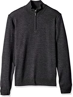 Amazon Brand - Goodthreads Men's Merino Wool Quarter Zip...