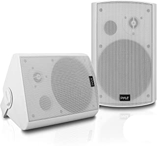 Outdoor Wall-Mount Patio Stereo Speaker - Waterproof Bluetooth Wireless & No Amplifier Needed - Portable Electric Theater ...