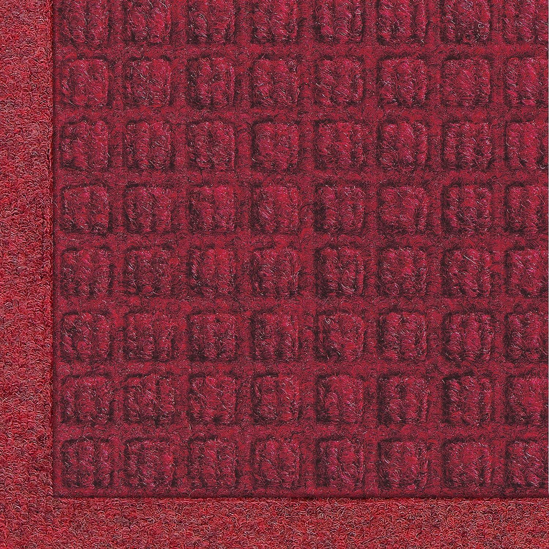 Andersen 280 Waterhog Fashion Polypropylene Fiber Entrance Indoor Outdoor Floor Mat, SBR Rubber Backing, 6-Feet Length X 4-Feet Width, 3 8-Inch Thick, Red Black