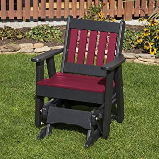 CHERRYWOOD-POLY LUMBER MISSION 2 Feet Glider EVERLASTING - MADE IN USA - AMISH CRAFTED