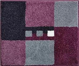 Linea Due Bath Rug, Ultra Soft and Absorbent, Anti Slip, MERKUR, Small mat 50x60 cm, Berry