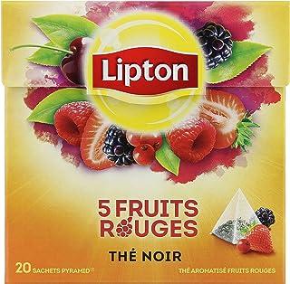 Lipton Thé 5 Fruits Rouges, Label Rainforst Alliance, 20 sachets