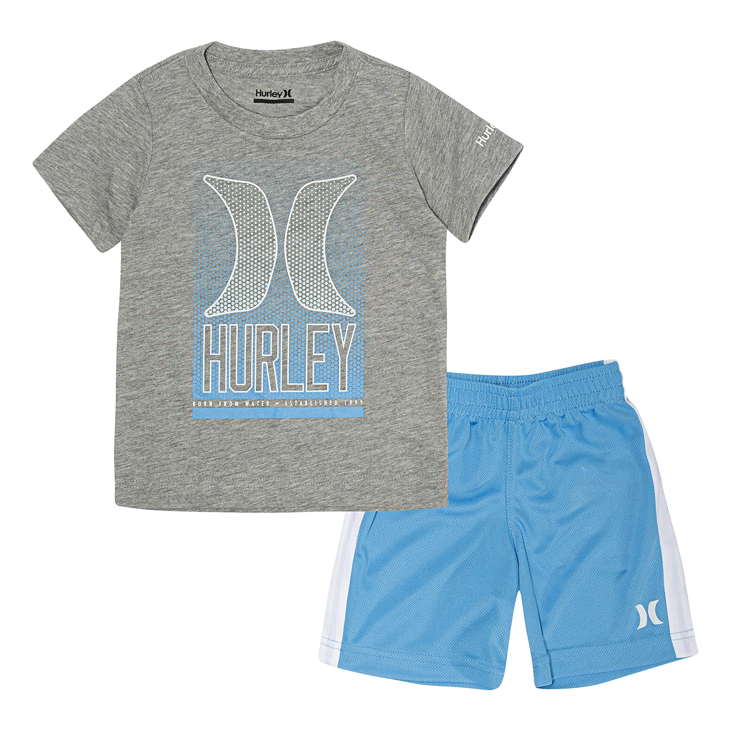 Hurley Baby Boys Graphic T-Shirt and Shorts 2-Piece Outfit Set